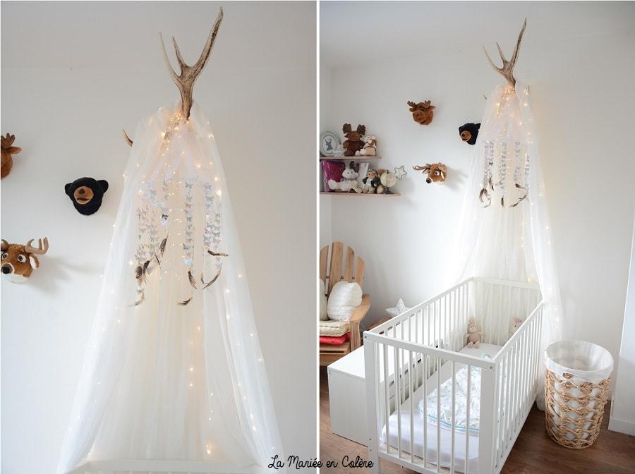 diy un mobile papillons pour d corer la chambre de b b. Black Bedroom Furniture Sets. Home Design Ideas