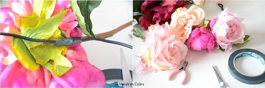 DIY créer couronne florale