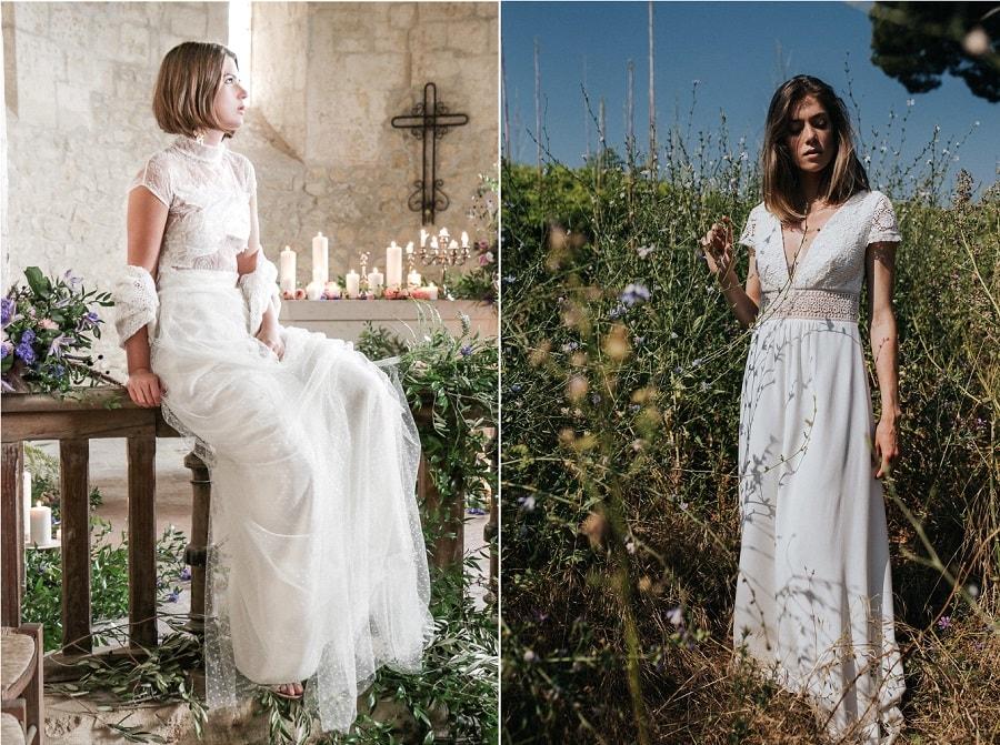 robe de mariée bustier transparent