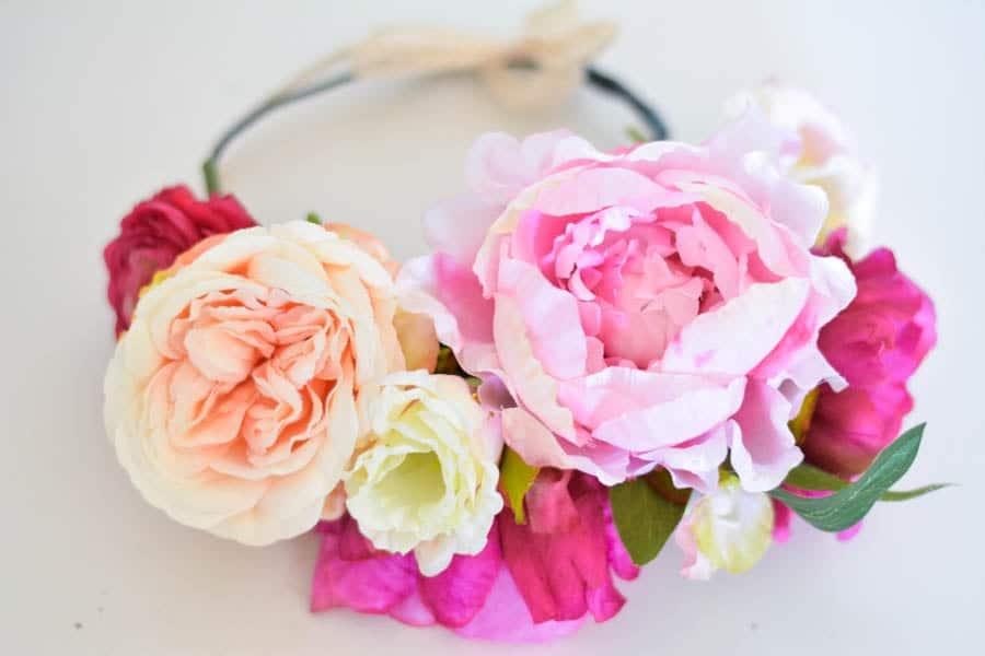 couronne de fleurs mariage tuto