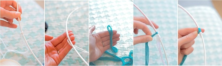 DIY attrappe rêves laine