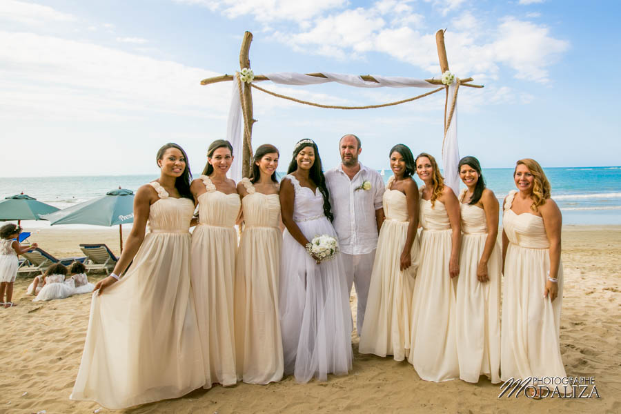 photo mariage plage republique dominicaine beach destination wedding photographer dominican republic groupes cocktail by modaliza photographe-17