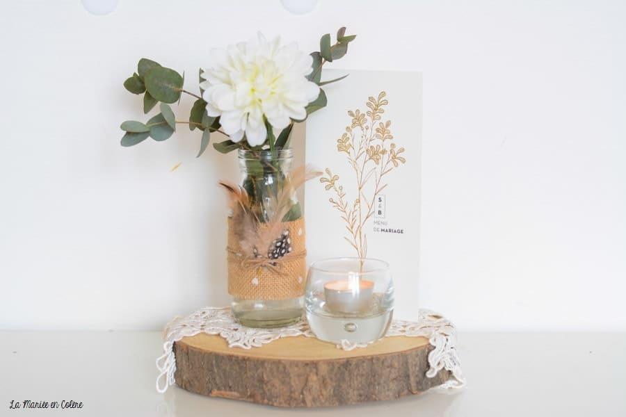 vase mariage bohème, déco originale tendance
