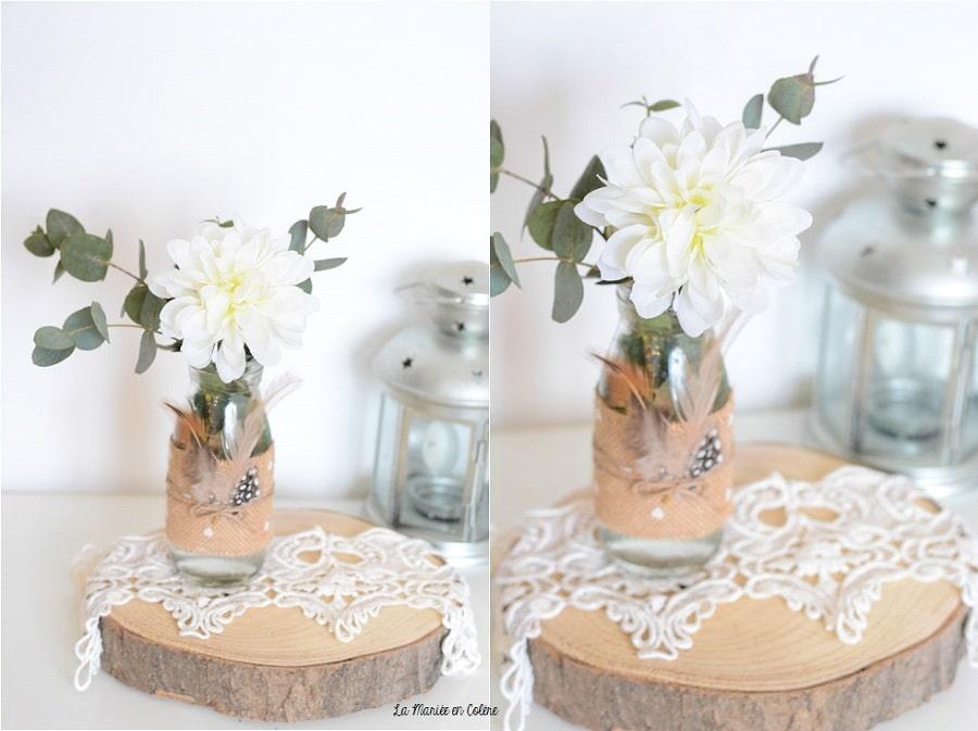 vase mariage champêtre déco