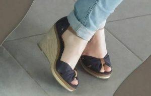 chaussures plateforme mariée