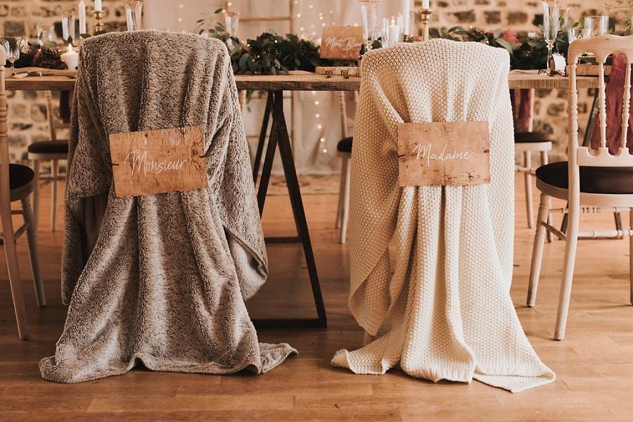 idées déco mariage hiver