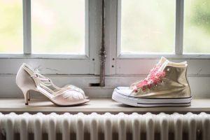 baskets mariée