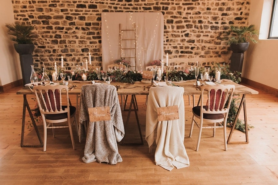 table déco mariage hiver