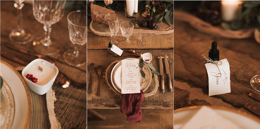 table mariage hiver