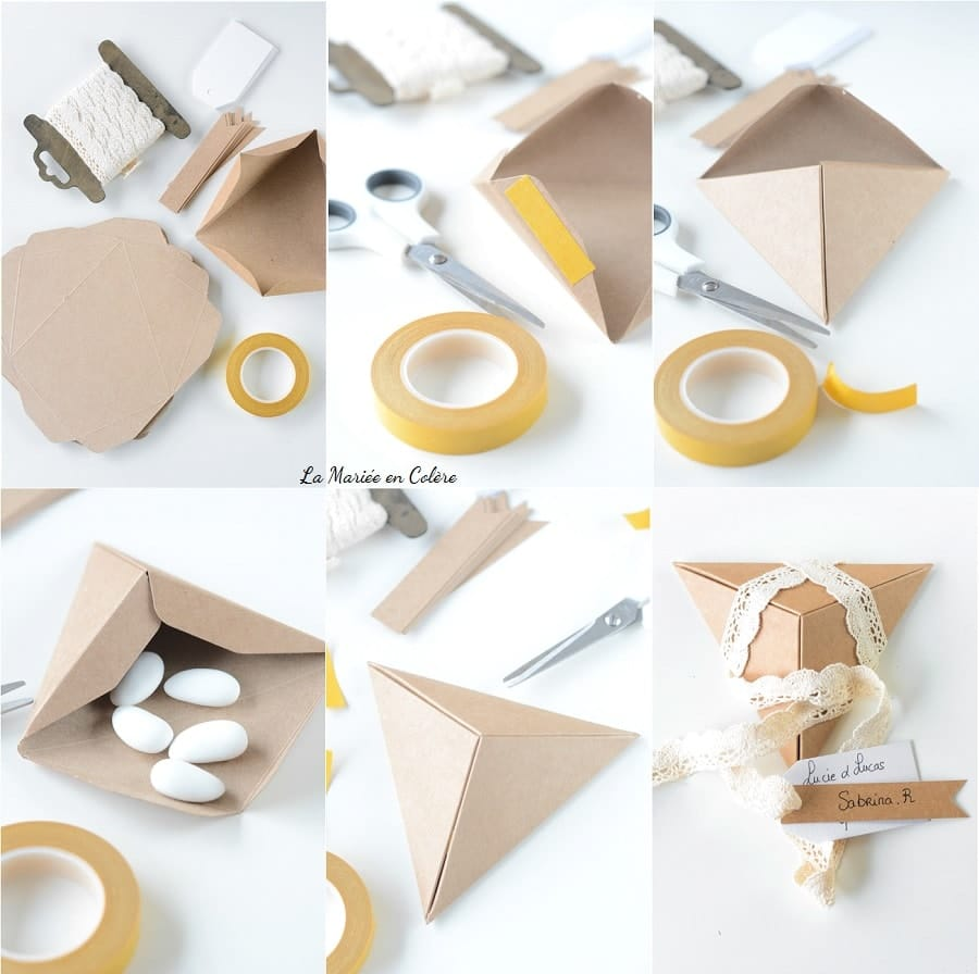 packaging kraft dragées mariage