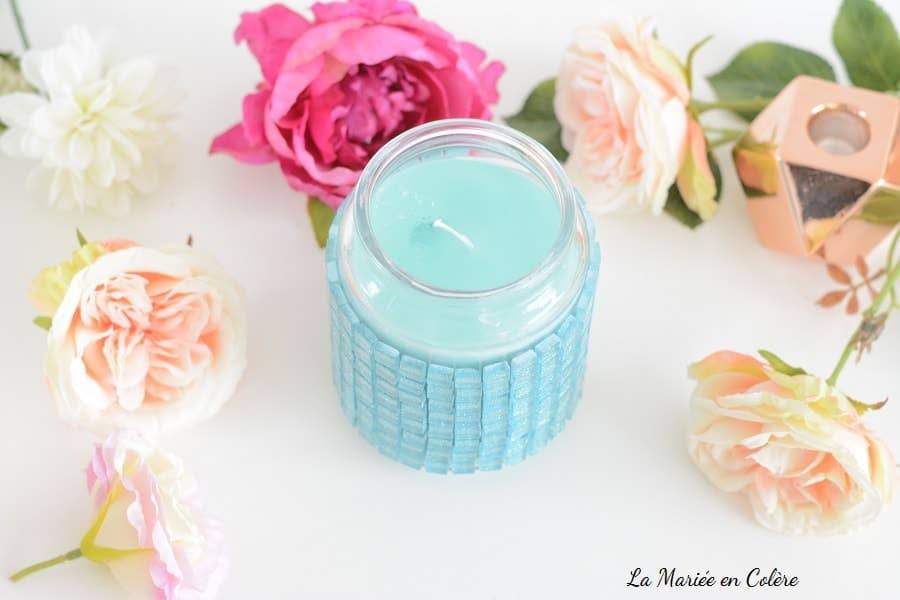 DIY vase paillettes mariage