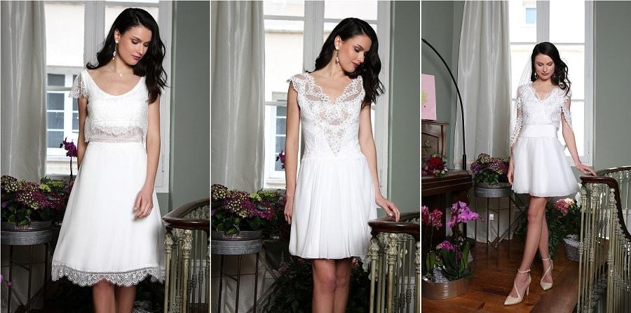 robe mariée courte