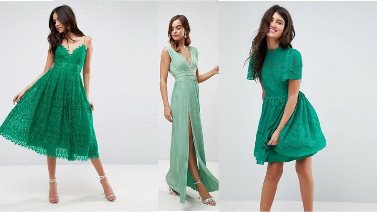 Invitée à un mariage : 30 robes vertes canons