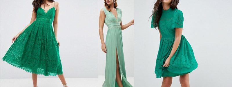 Invitée à un mariage : 30 robes vertes canons !