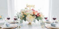 35 idées pour présenter vos numéros et noms de de table mariage