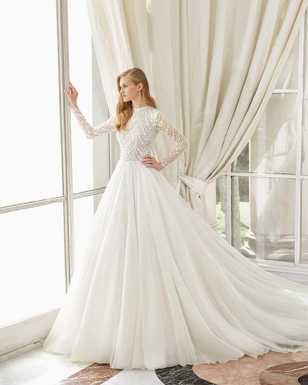 Rosa Clara 2019 détail dentelle robe de mariée