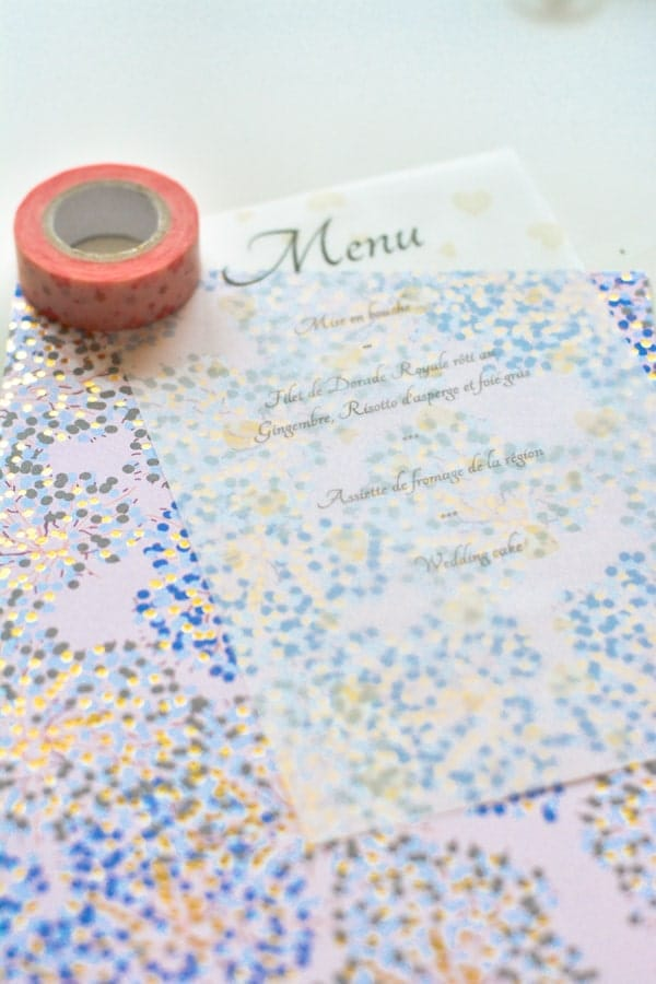 1 idée menu mariage papier calque-min