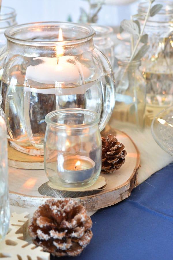 Deco De Table Une Table De Noel En Bleu Dore Et Bois