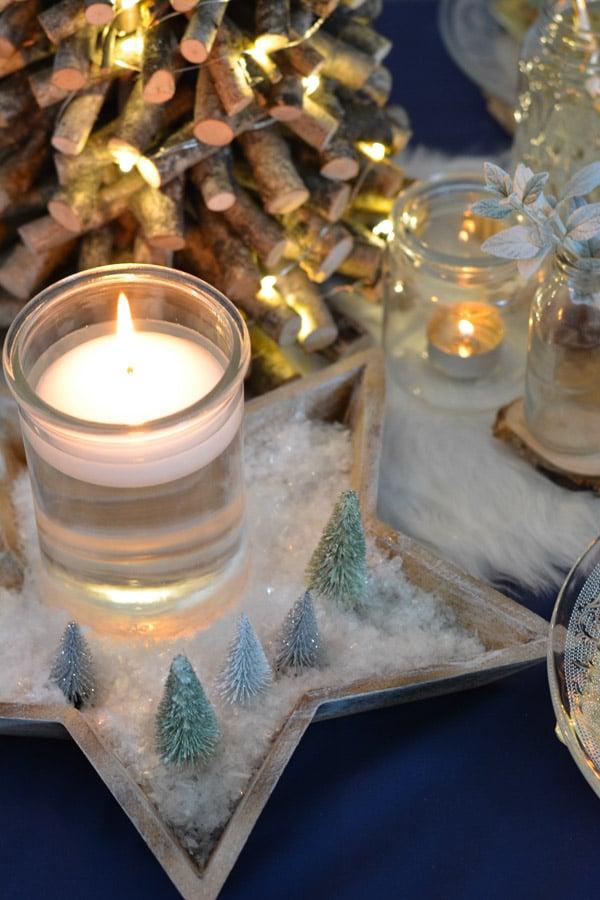 26 coupelle étoile fausse neige sapins