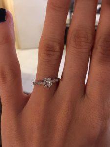Bague engagement Julianne diamant