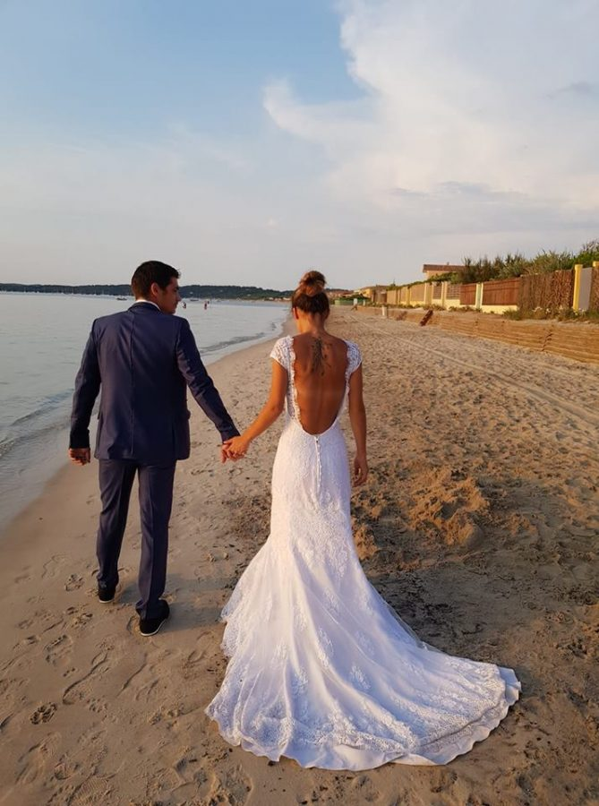 Robe mariée dos nus