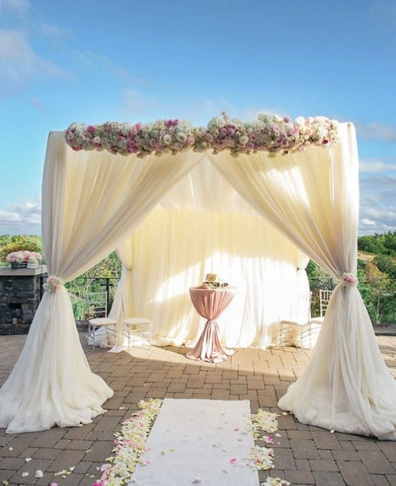 arche mariage chic tulle