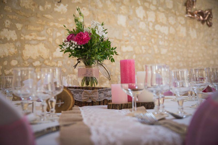 centre de table mariage bohème