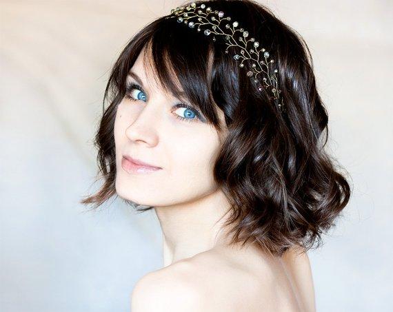 couronne mariée cheveux courts