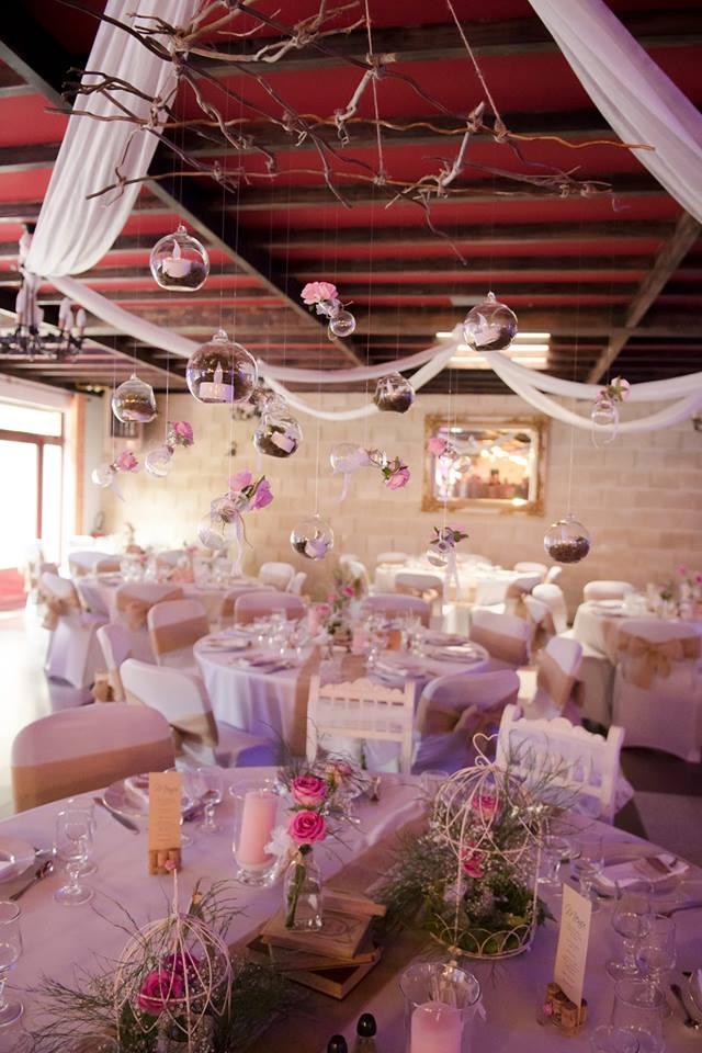 décoration de table mariage romantique