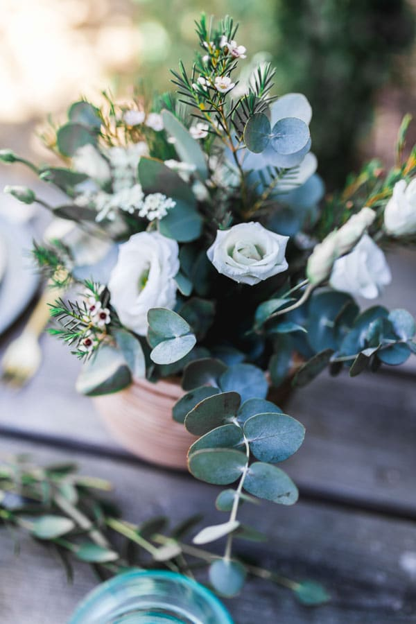 composition florale champêtre