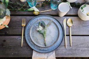 decoration table rustique
