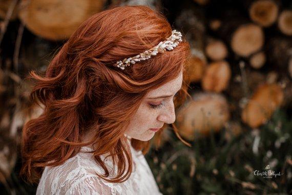 mariée cheveux courts headband