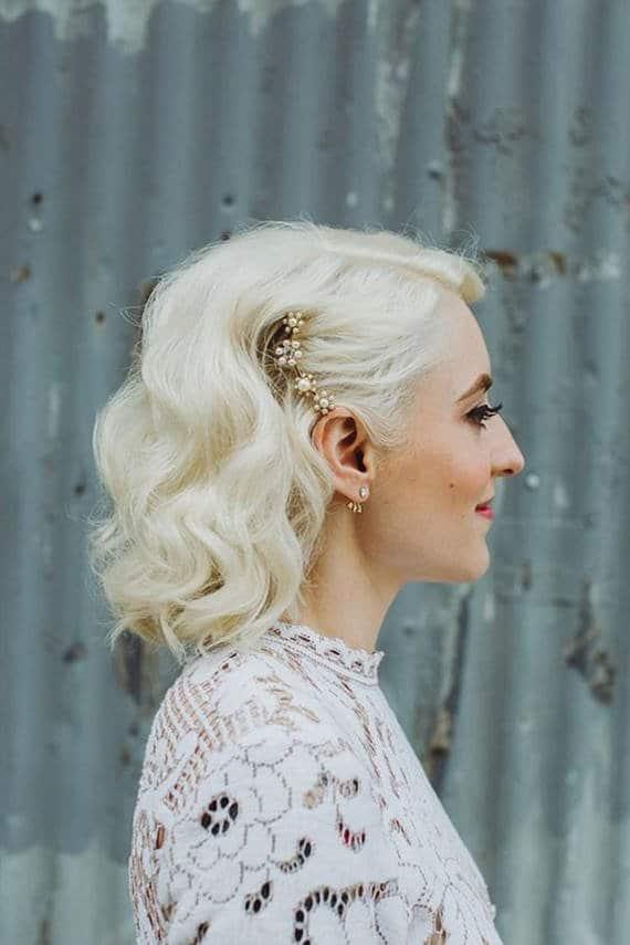 mariée cheveux très courts
