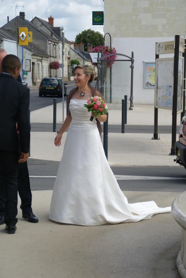 robe de mariée bustier droit