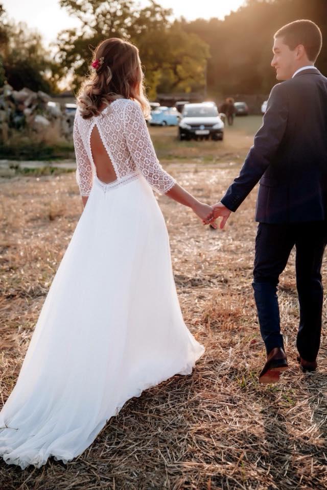 robe de mariée décolleté dos rembo styling
