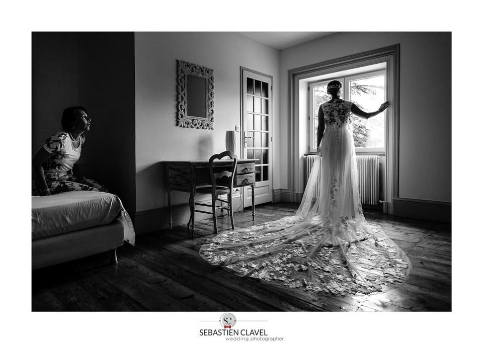 robe de mariée dentelle traîne