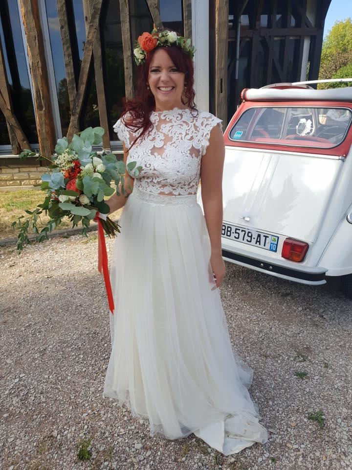 Ma robe de mariée en dentelle - La Mariée