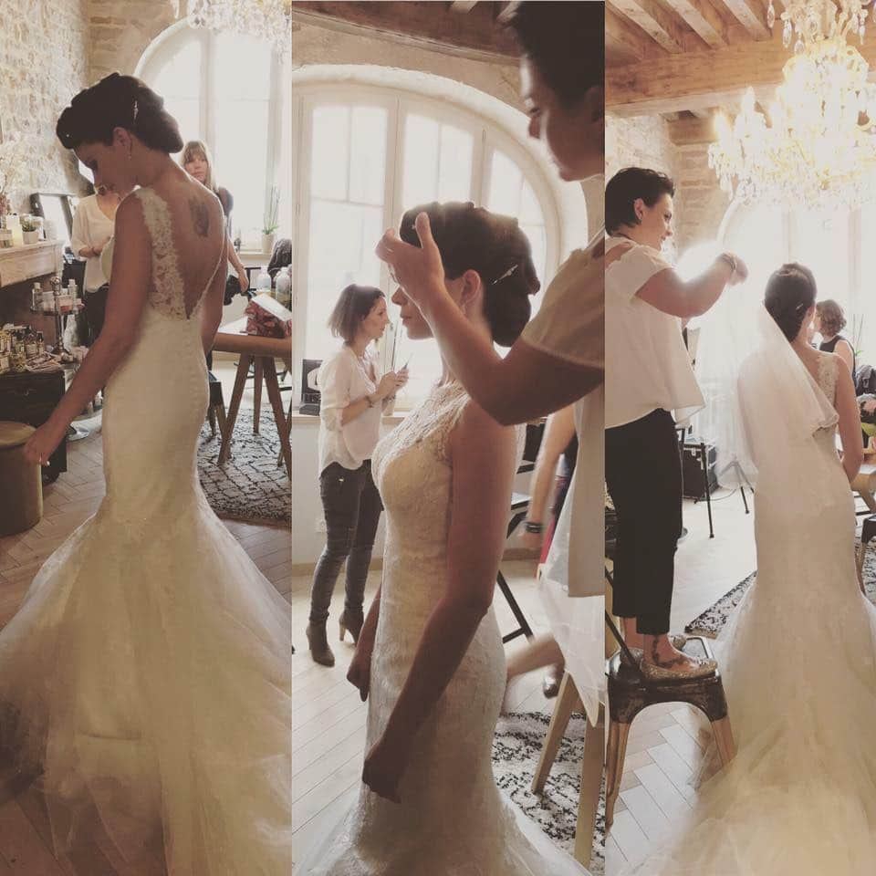 robe de mariée sirène dos nu