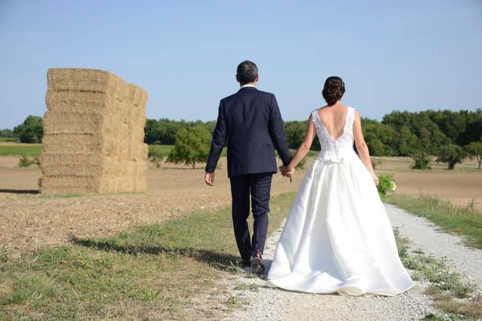 robe mariée princesse, décolleté dos