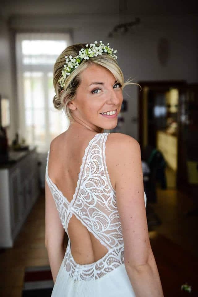 robe mariage décolleté dos