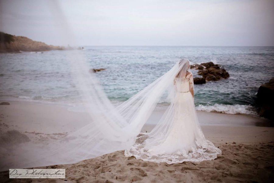 tenue mariée robe plage dentelle