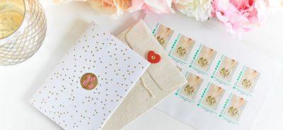 Des timbres personnalisés pour mon mariage