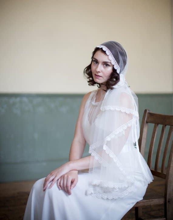 voile mariée cheveux courts