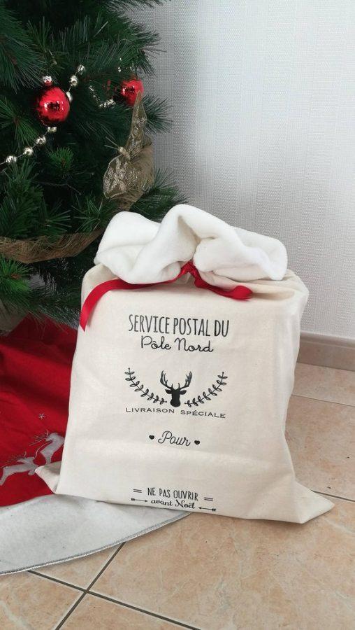 Hotte de Noël personnalisable