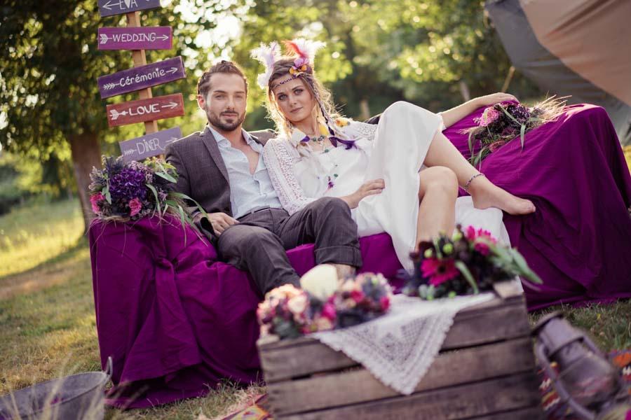 cérémonie mariage hippie