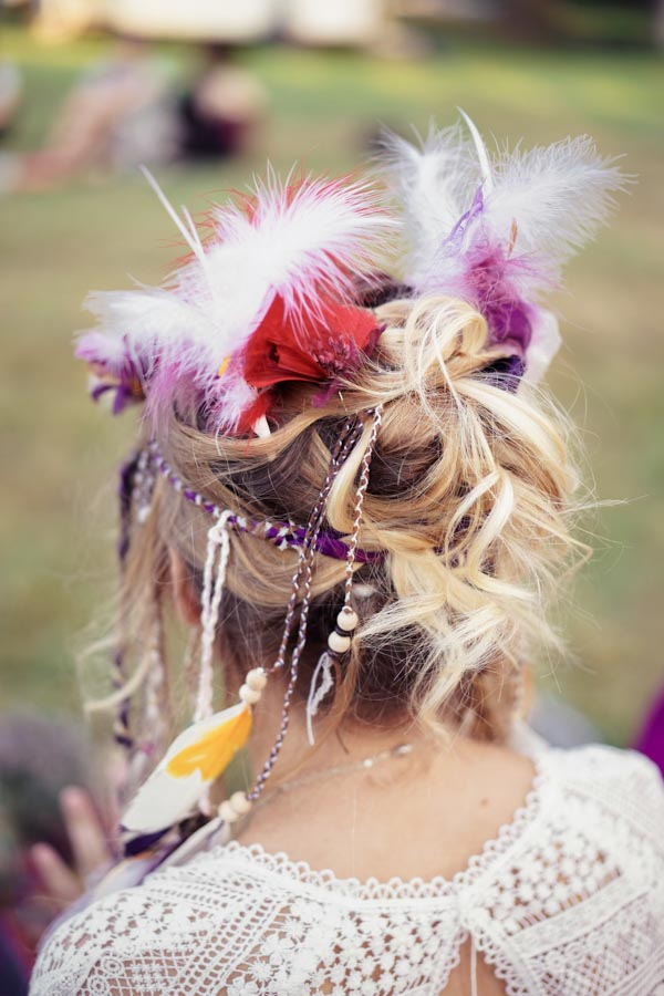 chignon mariage hippie