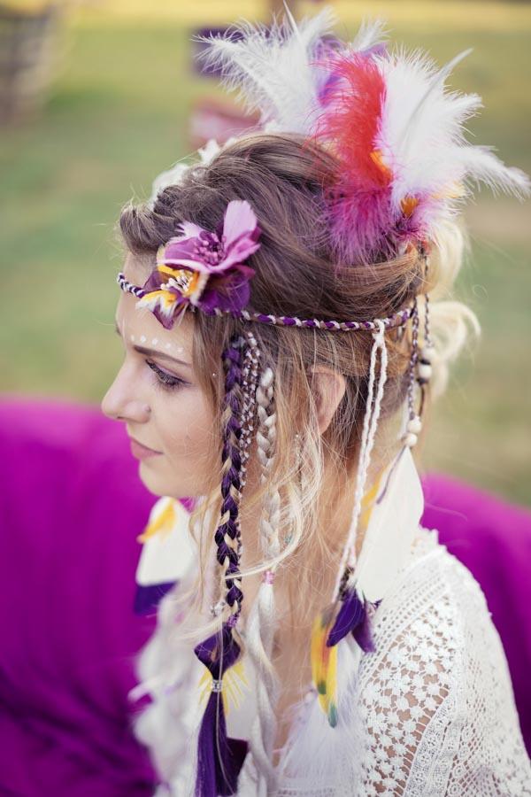 coiffure mariage hippie