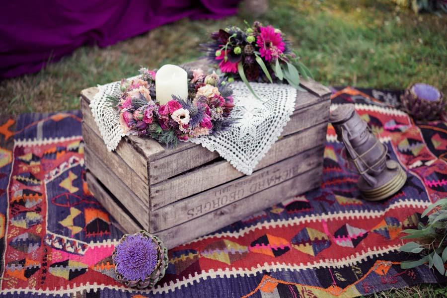 idée déco mariage hippie