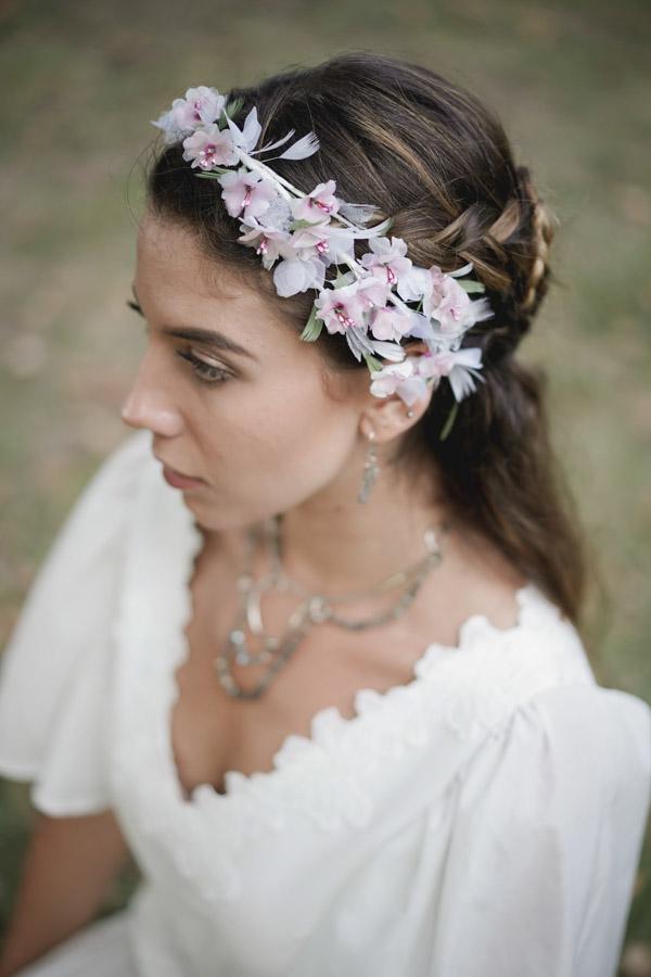 coiffure mariée bohème