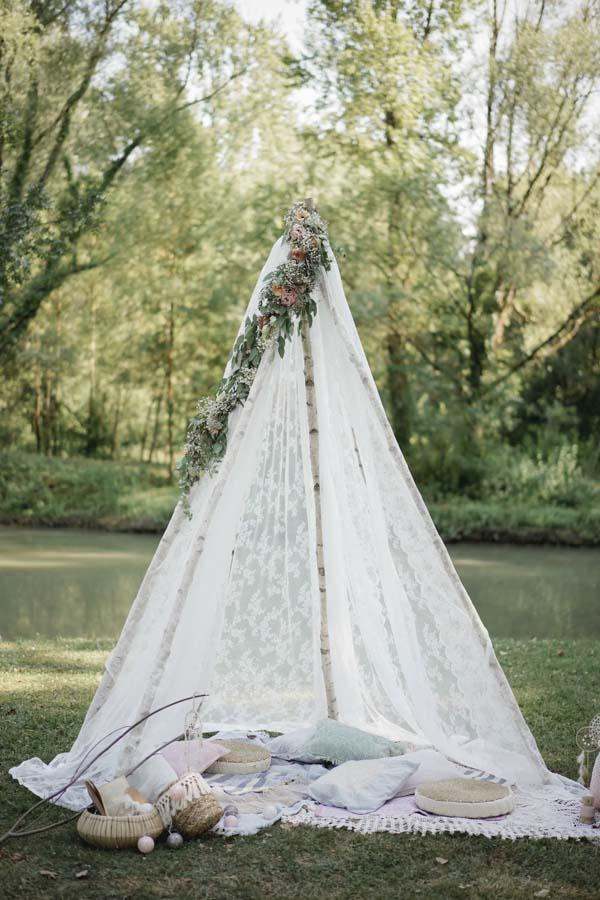 tipi mariage bohème
